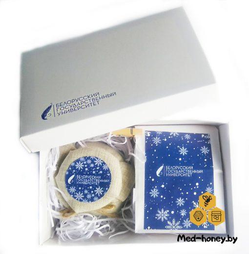 корпоративные подарки с логотипом в Минске мед и чай