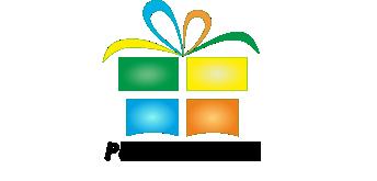 podarki-gifts.by - Лого для подарков c названием сайта